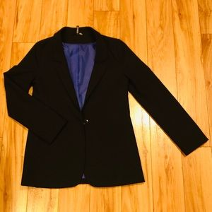 H&M Long Black Blazer SZ 8